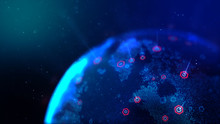 Abstract Background Dot Blue W...