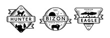 Forest Wildlife Vector Logo Templates Set