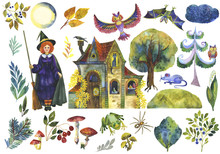Set Of Fairytale Illustrations...