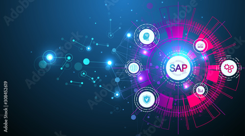 SAP Business process automation software Wallpaper Mural