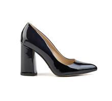 Side View Of Black Patent Leat...