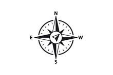 Compass Vector Icon. North, So...