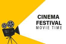 Cinema Festival Poster With Mo...