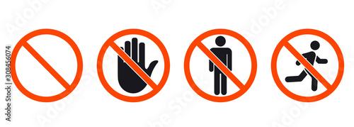 Fototapeta No entry sign