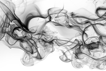 Toxic of black amoke abstract on white background. fire design