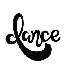 Dance Hand Drawn Lettering Logo