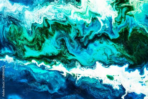Spoed Foto op Canvas Kristallen Original epoxy resin abstract art close up