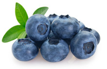 Fresh Blueberry On White Background