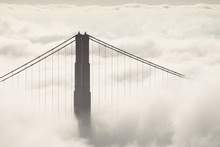 Golden Gate In Fog