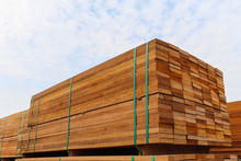 Pallet With A Pile Of Lumber, ...