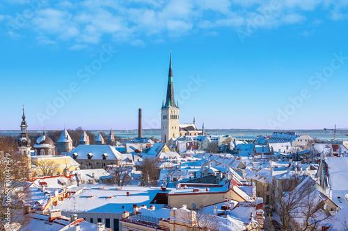 Old town skyline. Tallinn, Estonia Canvas Print