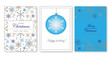 set of christmas cards with snowflakes