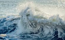 Close Up Of A Wave Crashing On...