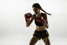 Fit Caucasian Woman In Sportsw...