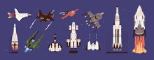 Rockets And Spaceships Vector ...