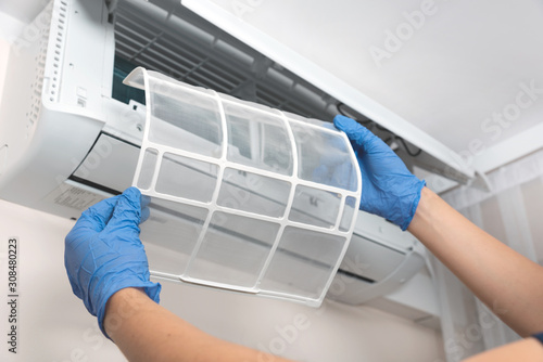 Air conditioner unit service Wallpaper Mural