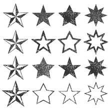 Black STAR Shape Empty Stamps ...