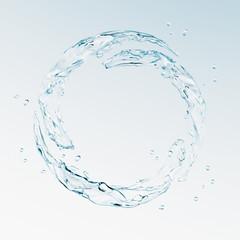 水の輪のイラストCG