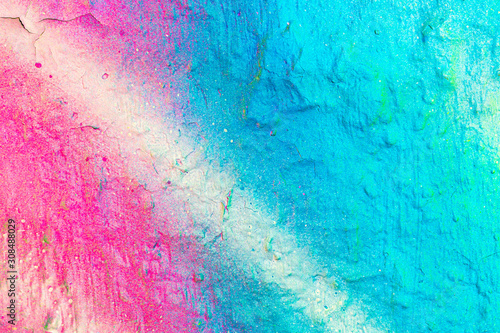Fragment of colored graffiti painted on a wall. Bright abstract backdrop for design. - 308488029