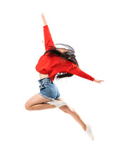 Young Asian Dancer Over Isolat...