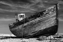 Abandoned Old Fishing Boat On ...