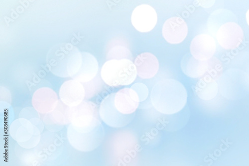 Cuadros en Lienzo Blue soft lights bokeh background,christmas winter backdrop.