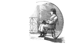 Girl Reading A Book - 1894 Vin...