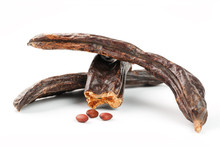 Carob Carob Fruit And Seeds On...