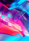 Abstract liquid multicolor background with lighting effect. Bright futuristic pattern for electronic music fest. Fractal artwork for creative graphic design