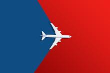 Airplane Model. White Plane On...