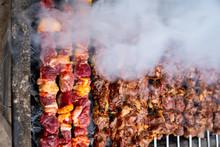 """Barbecued Lamb Shish Kebab. Turkish  Known As """"Mangal Kebab"""""""