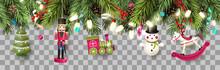 Christmas Border With Traditio...