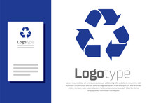 Blue Recycle Symbol Icon Isola...