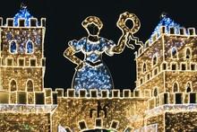 Illuminated Castle With Christ...