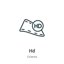 Hd Outline Vector Icon. Thin L...