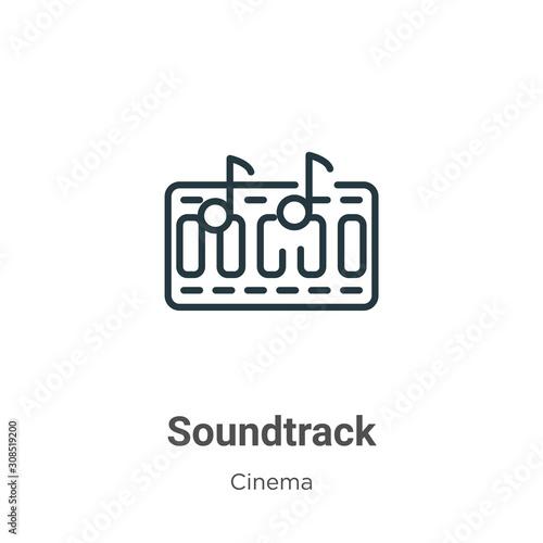 Soundtrack outline vector icon Wallpaper Mural