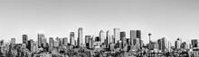 The Calgary Skyline In Black A...