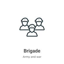 Brigade Outline Vector Icon. T...