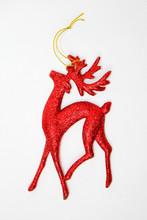 Red Christmas Reindeer Isolate...