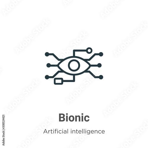 Bionic outline vector icon Wallpaper Mural
