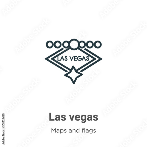 Photo Las vegas outline vector icon