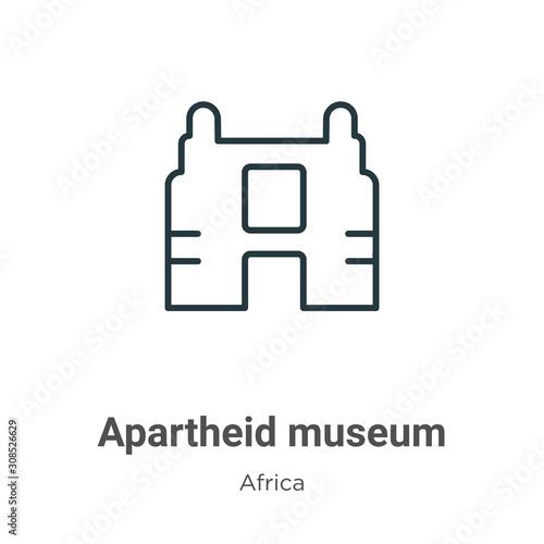 Photo Apartheid museum outline vector icon