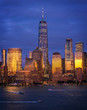 View to Manhattan skyline from Jersey city at sunset