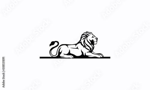 Fotomural  Lion Vector Royalty Logo Design Inspirations