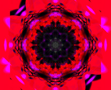 Color Abstract Graphic Kaleidoscope. Pattern