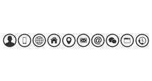 Contact Us Icons. Web Icon Set
