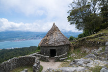 Reconstruction Of Ancient Celtic House In A Guarda, Spain