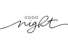 Good Night - Calligraphy Vecto...