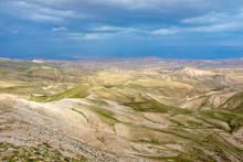 Judean Desert Landscape, Near Al-Ubeidiya, West Bank, Palestine