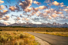 Grand Teton Mountain At Sunris...